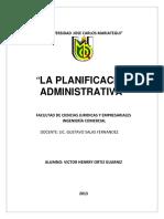 La Planificacion Administrativa