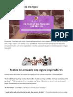 20 Frases de Amizade Em Ingles - Inglês Com Ana Cuder