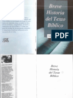 Breve Historia Del Texto Bíblico