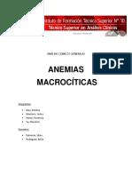 Análisis Clínicos Generales Tp Anemia Macrocitica g4 Final