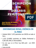 Prescripción Inicial en Diálisis Peritoneal 2017