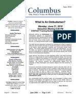 NAMI Columbus Newsletter - June 2010