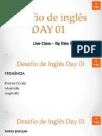 Desafio de Inglês Day 01