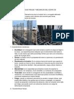 Caracteristicas Fisicas y Mecanicas Del Acero de Refuerzo