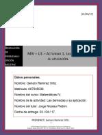 MIV – U1 – Actividad 1. Las Derivadas y Su Aplicación