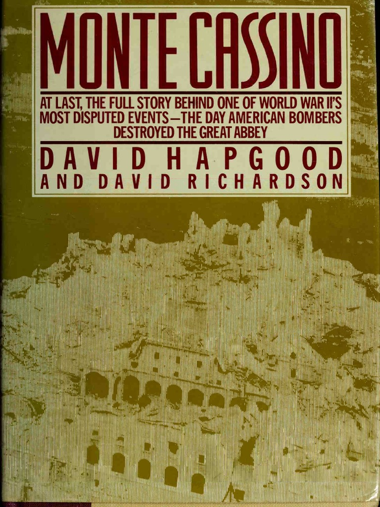 David Hapgood & David Richardson Monte Cassino (Congdon & Weed ...