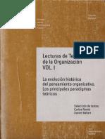 Taylor. Principios de La Direccion Cientifica  en Lecturas de Teoria de la Organización VOL 1