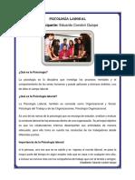 La Psicología Laboral - Eduardo Condori Quispe