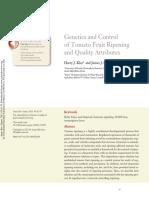 Genetics and Control of Tomato Fruit Ripening