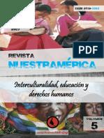 """Revista nuestrAmérica n°9, volumen 5 """"Interculturalidad, educación y derechos humanos"""""""