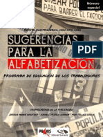 """Revista nuestrAmérica n° Especial """"Sugerencias para la alfabetización. Programa de educación de los trabajadores"""""""