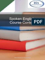 Spoken Englinh Course Content