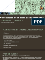Cimentacion de La Torre Latinoamericana