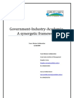 Collaboration Between Industry Academia and Government