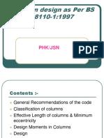 Column Design - As Per BS8110