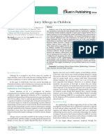 Food and Respiratory Allergy in Children