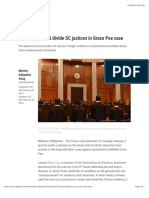 4 Key Issues That Divide SC Justices in Grace Poe Case