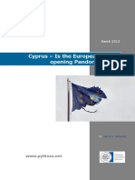 Cyprus – is the European Union Opening Pandora's Box?