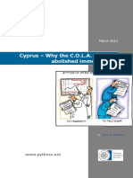 Cyprus - Why the COLA Must Be Abolished Immediately!