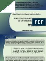 AVALUO DE ACTIVOS INDUSTRIALES  (Aspectos Fundamentales de La Valoracion)