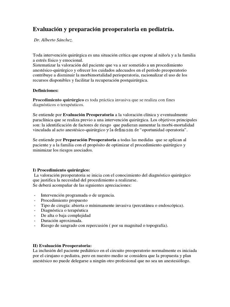Circuito Quirurgico : Evaluación y preparacion preoperatoria en pediatría.pdf