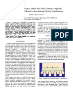 GaN Doherty Amplifier for LTE Micro Cell and Active Antenna System Applications