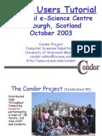 Edinburgh Condor Tutorial