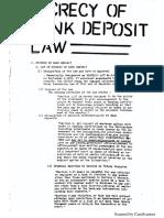 Bank Secrecy Law