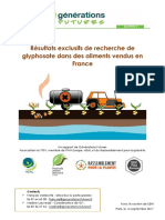 Recherche de glyphosate dans des aliments vendus en France
