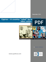 "Cyprus – A Country ""Ruled"" by Benighted Labor Union Leaders"