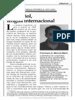 El Español, Lengua Internacional