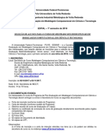 2018-1 Modelagem Computacional - Mestrado Multidisciplinar