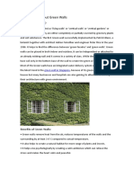 A Brief Study About Green Walls
