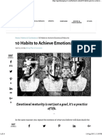 10 Habits to Achieve Emotional Maturity