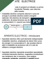 Aparate Electrice-notiuni de Baza