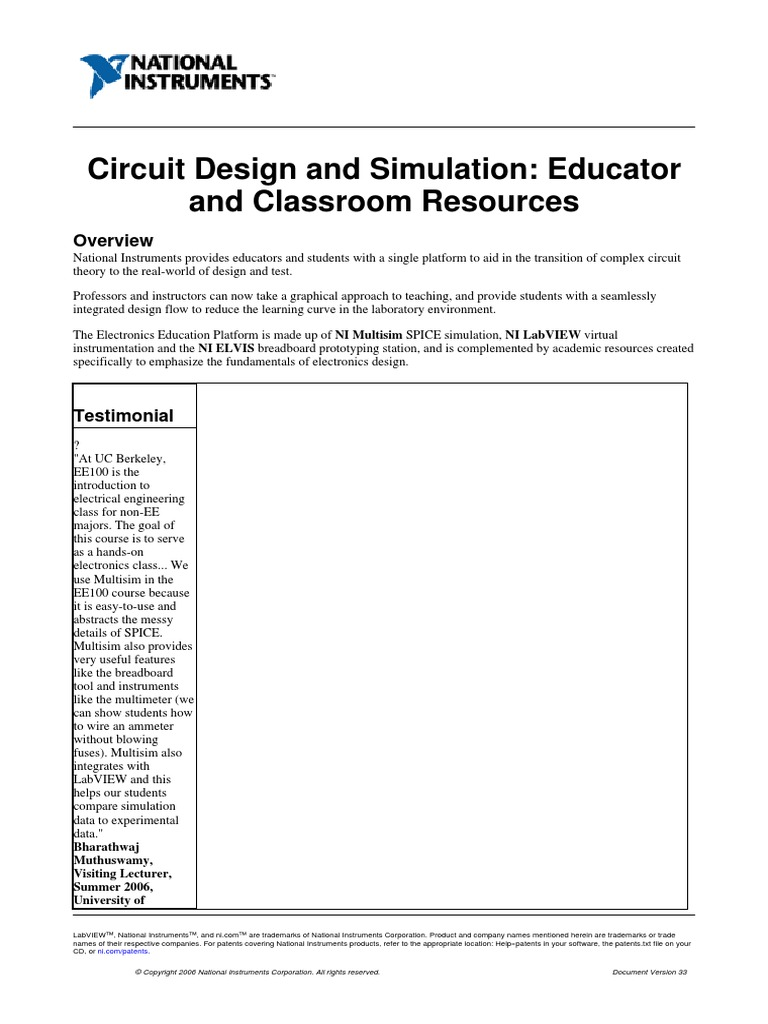 Labview Tutorial Electronics Microcontroller Electronic Circuit Simulator Online Its Good At Spice Simulation