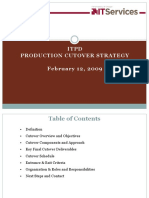 Production Cutover Planning