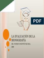 La Evaluación de La Monografía