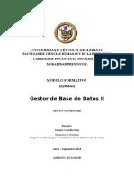 Gestor de Base de Datos II