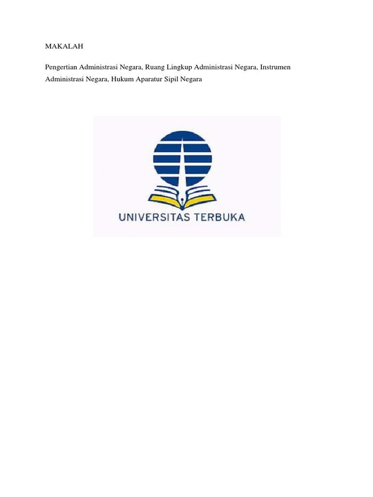 Universitas Terbuka Makalah