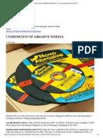 Composition of Abrasive Wheels - Novovodolazhsky Abrasive Plant