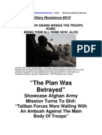 Military Resistance 8H12 the Plan Was Betrayed