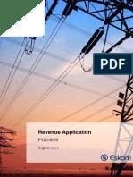 Eskom Revenue Application for 2018/19