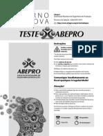 Teste Abepro 2016