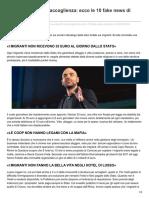 Bugie Su Sbarchi e Accoglienza Ecco Le 10 Fake News Di Saviano