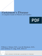 Parkinson's Disease - A Compl. Gde. for Patients, Families - W. Weiner, Et. Al., (JHU Press, 2001) WW
