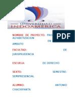 PROYECTO DE ALFABETIZACION