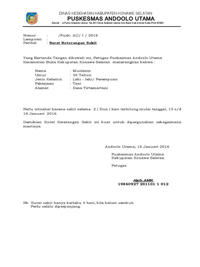 Surat Keterangan Sakit Puskesmas Doc Anti Feixista
