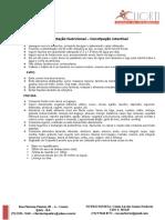 Orientação Nutricional – Constipação Intestinal