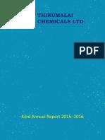Thirumalai Chemicals Ltd 2015 16